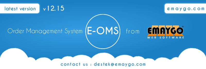 Sipariş Yönetim Paneli E-OMS